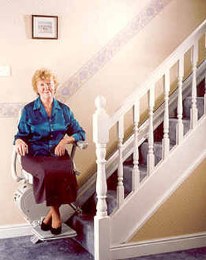 Stairlifts suitable for frequent fallers
